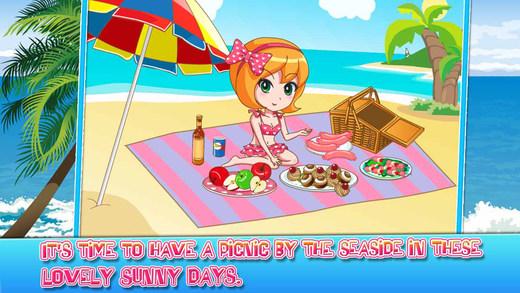 公主萌萌哒-海边野餐