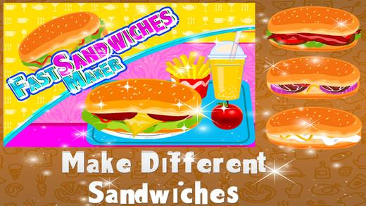 快速三明治制造商 - 疯狂烹饪厨师和疯狂的游戏为孩子们