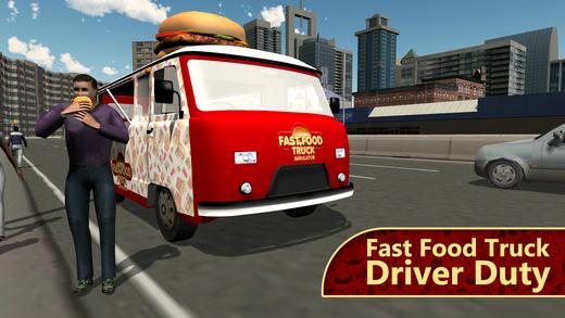 快餐车模拟器 - 半食货车驾驶和停车位的模拟游戏