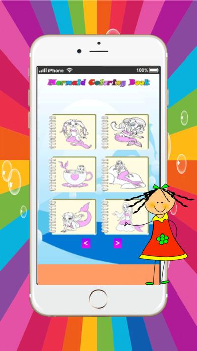 人魚公主魔法少女著色頁:免費打印