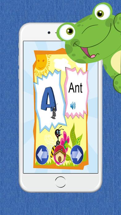 ABC字母学习的动物为孩子们免费