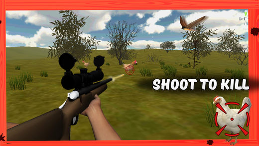 3D鸡猎人模拟器 - 拿起猎枪与芽动物杀死