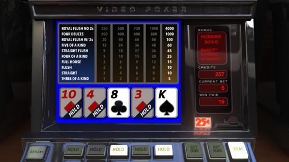 视频扑克 - 局末平分狂放 -