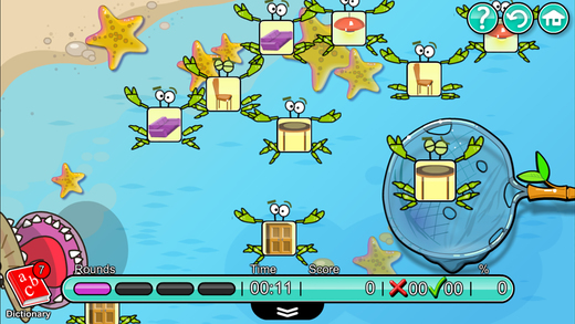 儿童英语 7:Mingoville中的'房屋和家具'-这个有趣且益智的游戏立志于教给儿童6-12个与此题目相关的英语动词,名词和副词而开发. 其中更包含25种不同语种的字典和互动帮助儿童更好地学习发音