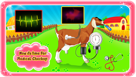 山羊妊娠手术 - 宠物兽医医生和医院模拟器游戏的孩子