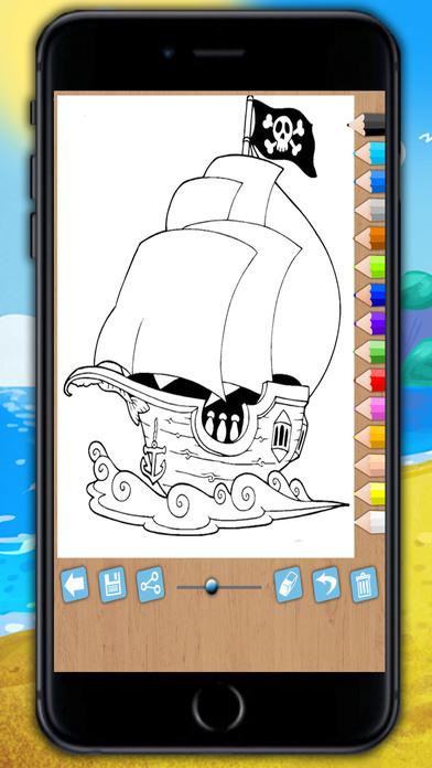 涂料和颜料海盗 - 教育海盗岁的孩子1〜6年涂色游戏