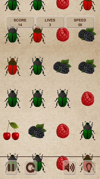 不要点击甲虫!收集浆果! (Don't tap the bugs! Collect berries!)