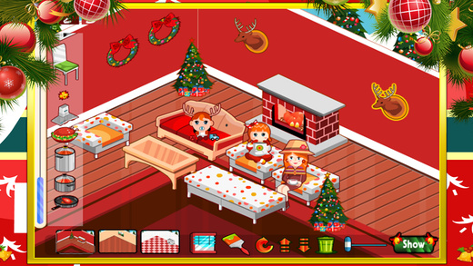 装饰温馨的圣诞房子