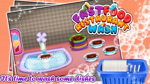 快餐店洗 - 清理这小子的比赛中凌乱的厨房和美食