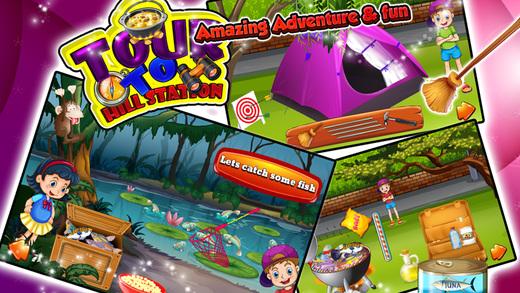 游山站 - 疯狂露营,烹饪和购物乐趣的游戏