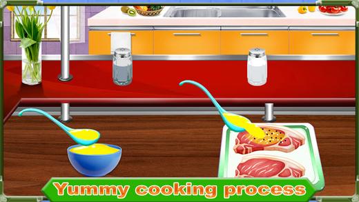 烧烤牛肉的厨师烹饪 - 食品制造商游戏