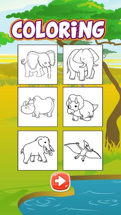 恐龙动物着色页的书免费