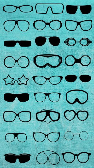 眼镜彩色贴纸 - 将眼镜加至您的照片,更改它的颜色