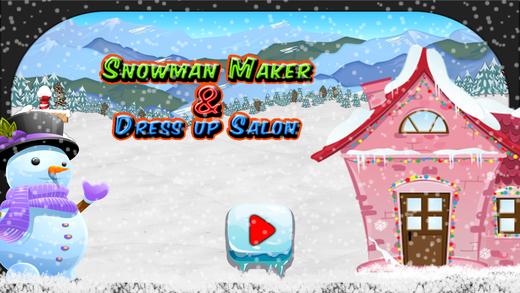 雪人制造商和装扮沙龙 - 化妆游戏