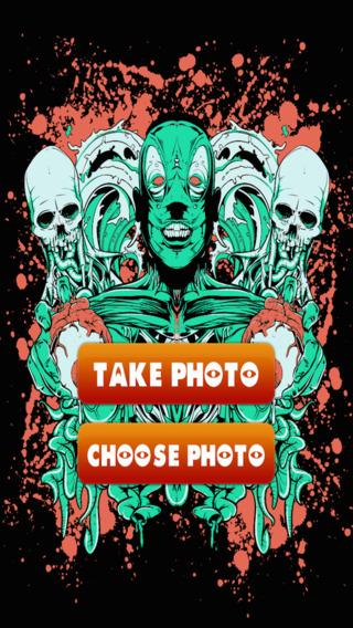 僵尸脸转型 - 可怕的怪物照片展位 免费