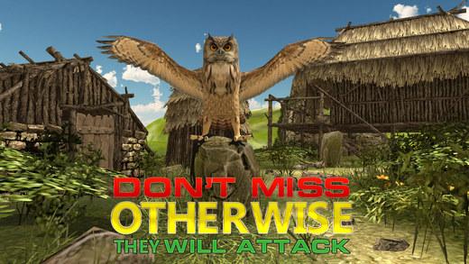 野生猫头鹰猎人模拟器 - 至尊射击和丛林狩猎模拟游戏