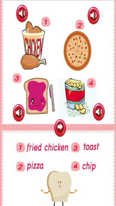食物学习英语:教育游戏的孩子