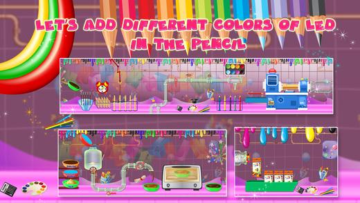 彩色铅笔工厂 - 建立和使铅笔在这个疯狂的有趣的游戏为孩子们