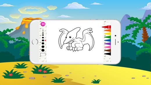 免费彩色书(恐龙),着色页和有趣的教育学习游戏的孩子!