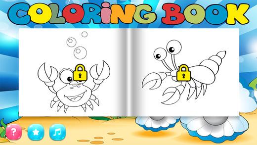 我的涂色本 成年人的涂色本 - Sea Animal Version