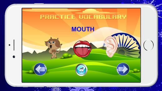學習英語身體聽力和口語免費。
