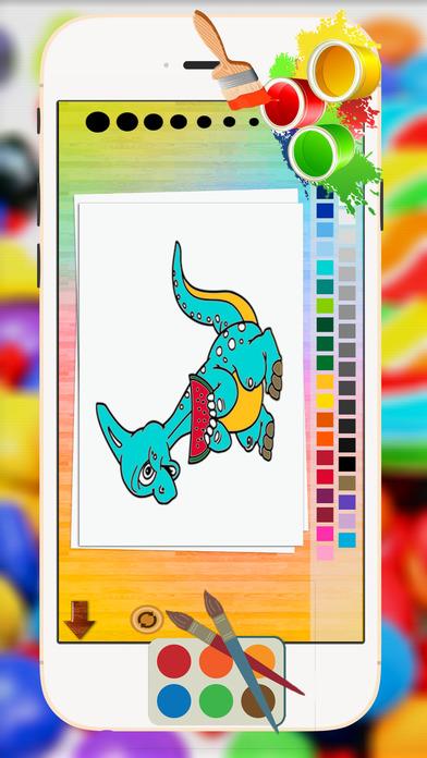 恐龙大染色 书 教育性 游戏 对于 小子