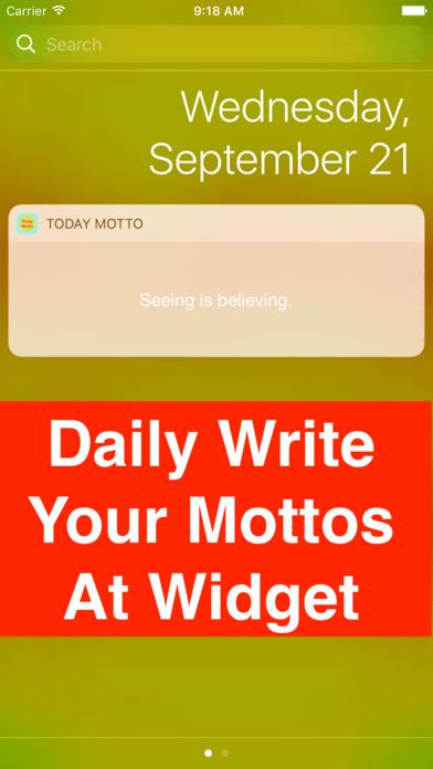 今天的快速座右铭 Pro - 每天写你的座右铭