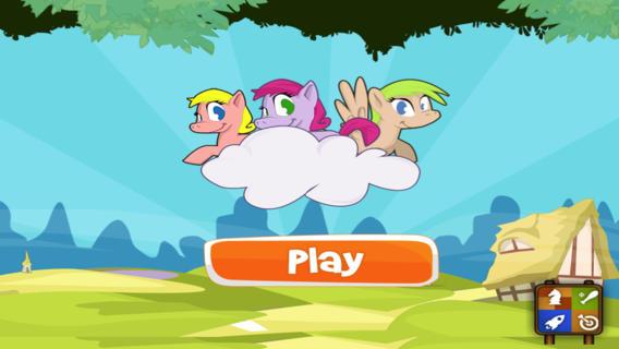 可爱的小马友谊能跑能跳 Cute Pony Friendship Run and Jump