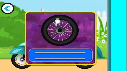 Scooty维修店 - 修复 - 在这个疯狂的游戏机械洗孩子的自行车