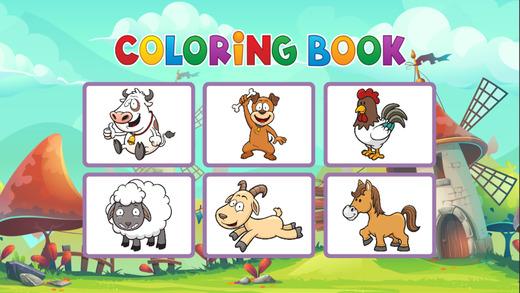 农场图画书 - 教育动物着色游戏为孩子