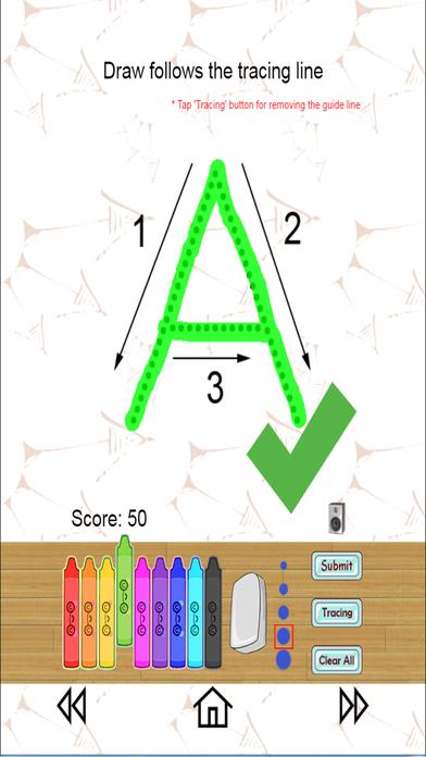 ABC123跟踪幼儿园 - 手写字母