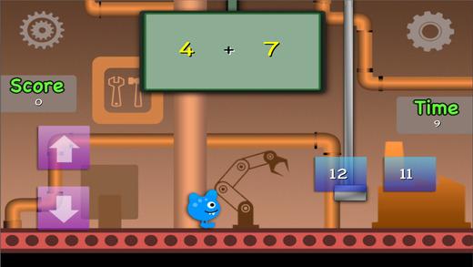 易怪物数学大师:加法和减法免费游戏