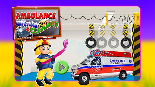 救护车修理和清洁技工车库