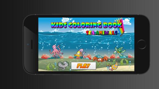 儿童图画书的海洋动物 - 教育学习儿童游戏幼儿
