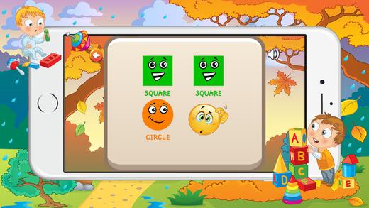 学习形状游戏为幼儿和儿童