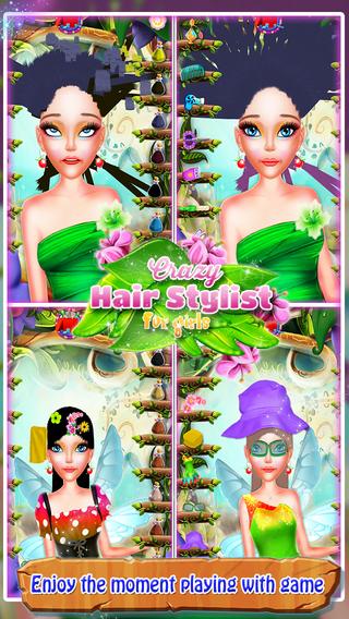 疯狂的发型师为女孩