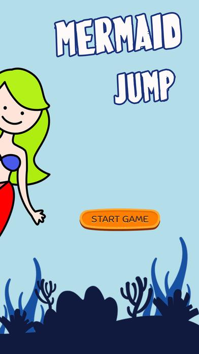 美人鱼游泳跳跃躲避障碍物为孩子的游戏乐趣