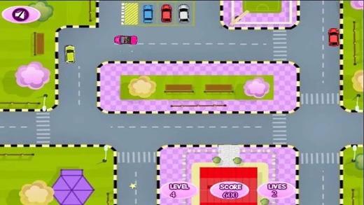 女孩学停车