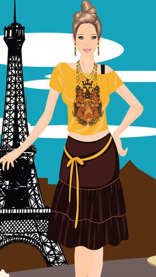 巴黎的女孩装扮游戏