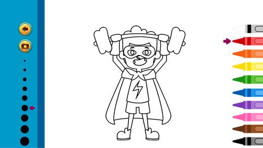 超级英雄的图画书 - 可爱的漫画艺术的想法页蹒跚学步
