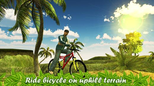 上坡自行车疯狂车手3d - 山地自行车