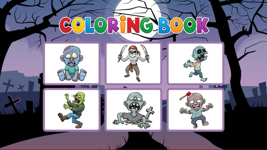 僵尸图画书 - 着色教育游戏为幼儿和儿童