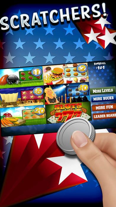 """""""一个美国乐透刮刮彩票Scratchers游戏"""