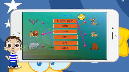 英语词汇匹配的文字游戏为孩子们