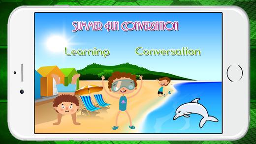 夏天乐趣的对话和词汇的孩子
