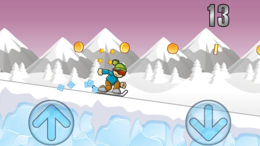 冰山滑雪冒险