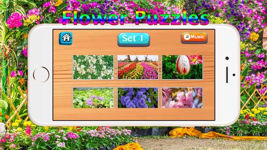 幼儿儿童免费拼图游戏 : 宝宝拼植物花卉的快乐花园世界