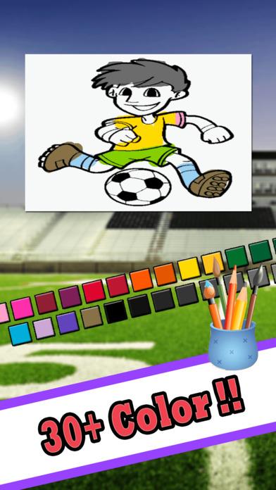 可爱的足球图画书 - 绘画网页游戏的孩子