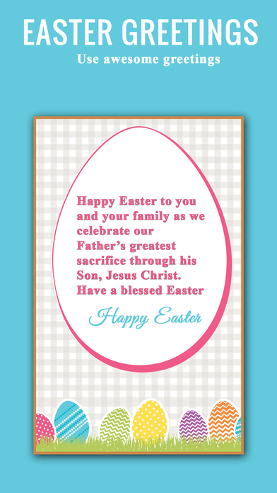 复活节快乐贺卡和明信片应用程序