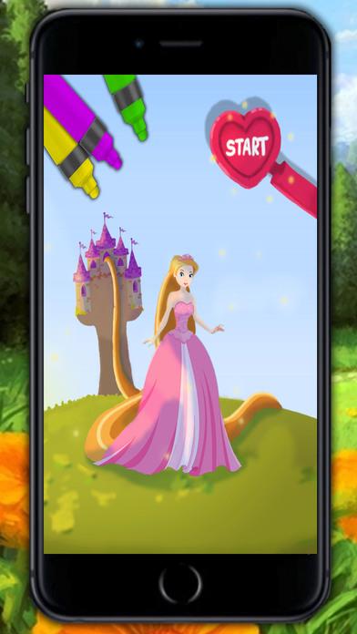 油漆公主长发公主 - 魔法着色图书